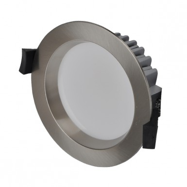 10W LED Downlight - Warm White - Brushed Chrome