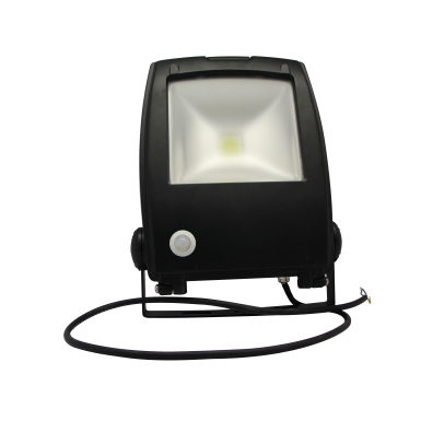 LED FLOOD LIGHT - 30W - 6400K - WITH SENSOR