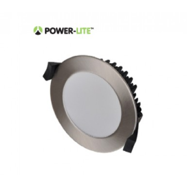 13W LED Downlight - Cool White - Brushed Chrome Frame