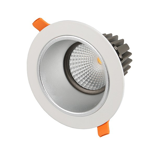 13W COB LED Anti-Glare Downlight - 5000K - White Frame
