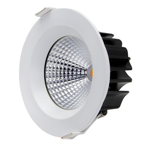 13W COB LED Downlight - Natural White - White Frame