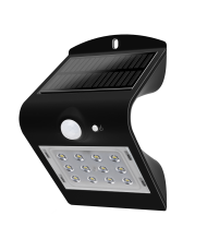 LED SOLAR LIGHT - 1.5W - 4000K+6000K - BLACK