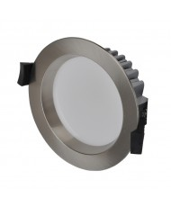 10W LED Downlight - Cool White - Brushed Chrome