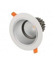 13W COB LED Anti-Glare Downlight - 4000K - White Frame