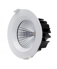 13W COB LED Downlight - Cool White - White Frame