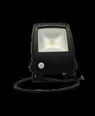 LED FLOOD LIGHT - 30W - 6400K - WITH SENSOR