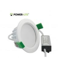 10W LED Downlight - Cool White - White Frame - IP65