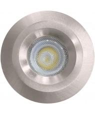 LED STAR LIGHT - 3W - 5000K - BRUSHED CHROME