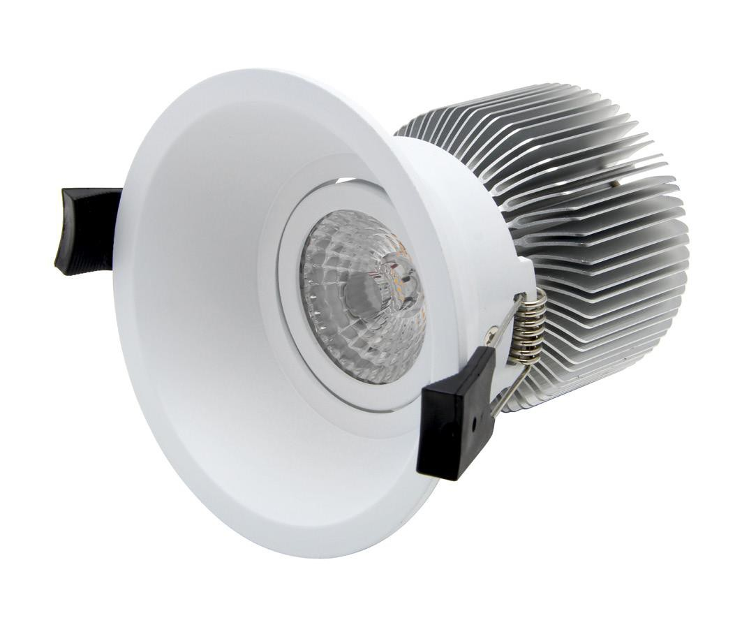 10W LED DOWNLIGHT - 10W - ANTI-GLARE & GIMBAL - 3000K