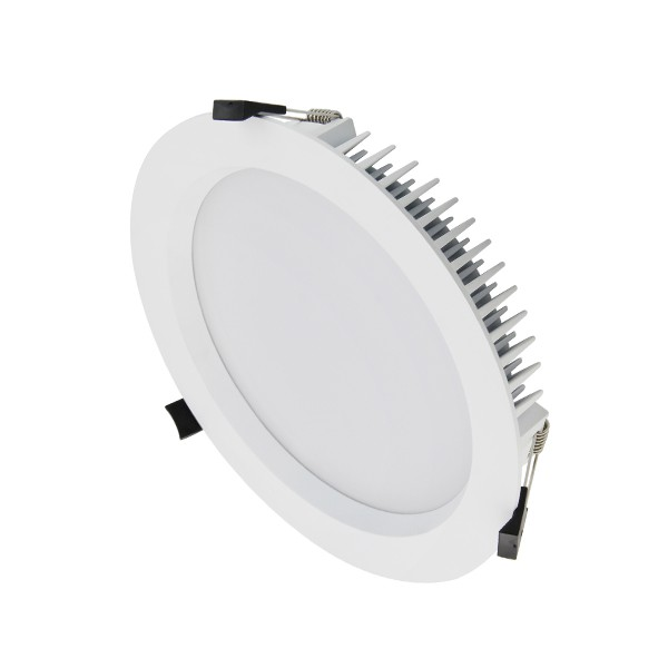 35W LED DOWNLIGHT - NATURAL WHITE - WHITE FRAME - DIMMABLE