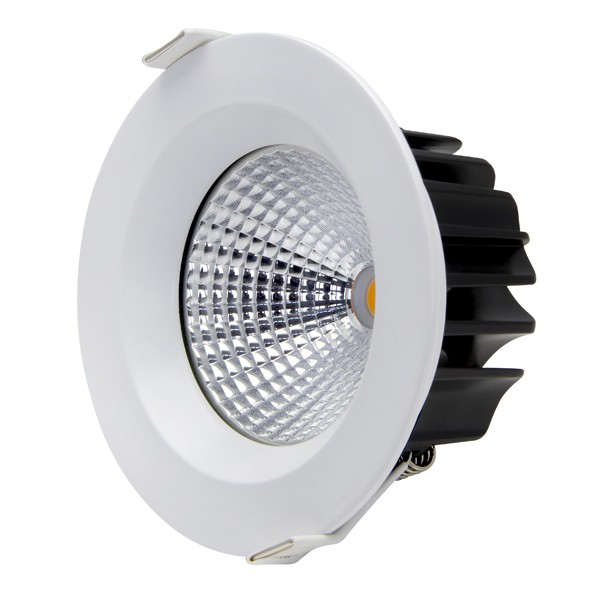 13W COB LED Downlight - Natural White - White Frame
