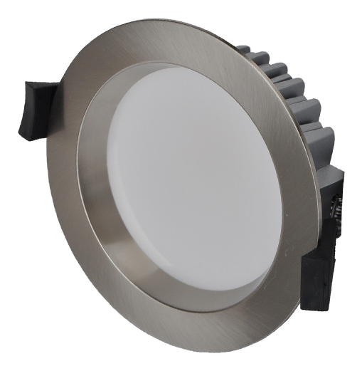 10W LED Downlight - Natural White - Brushed Chrome
