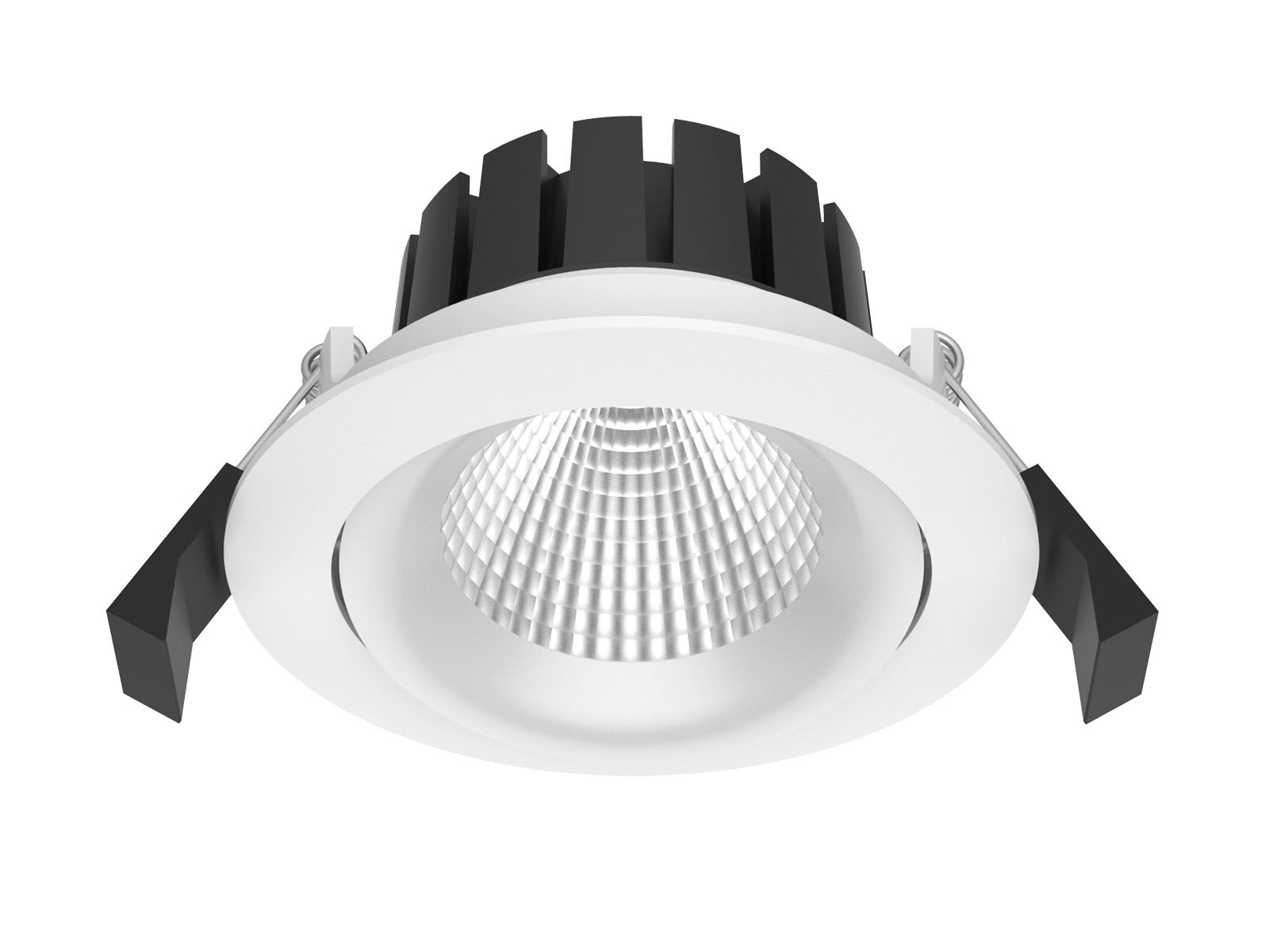 *NEW* 10W COB LED Gimbal Downlight - 3000K - White Frame