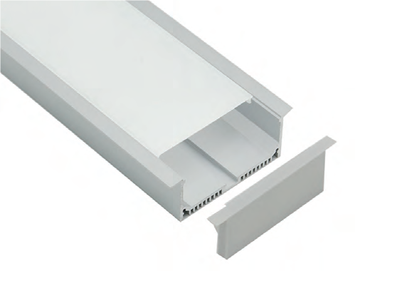 2.5 Meter Length Aluminium & PC Opal Matte Diffuser