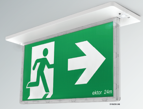 LED Exit Razor Sign - 24M Viewing Distance