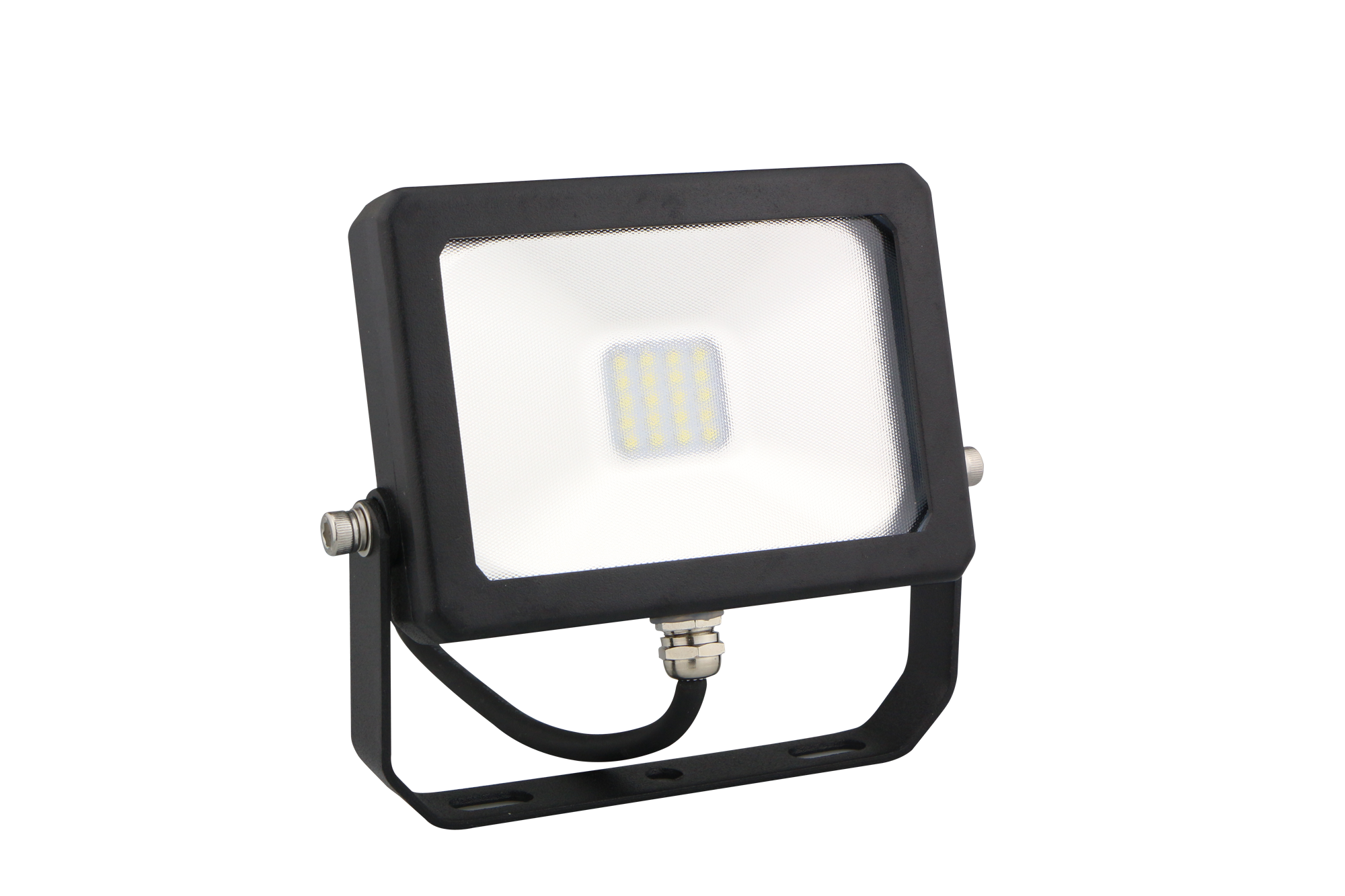LED DRIVERLESS FLOOD LIGHT - 10W - 6400K - Black