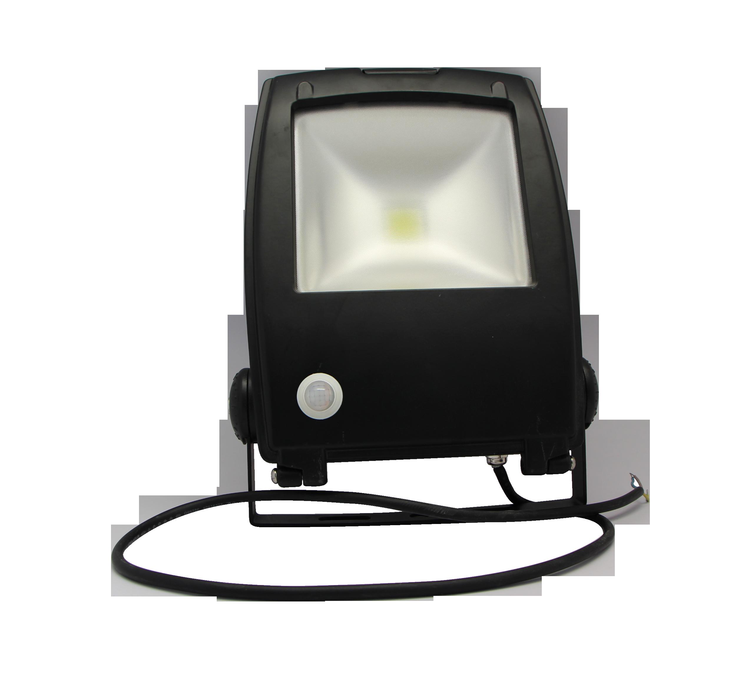 LED FLOOD LIGHT - 30W - 6400K - WITH SENSOR - A