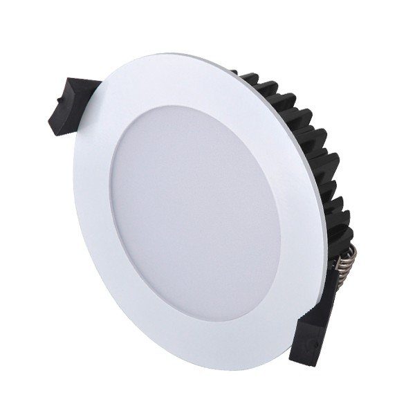 13W LED Downlight - Natural White - White Frame