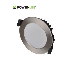 13W LED Downlight - Natural White - Brushed Chrome Frame