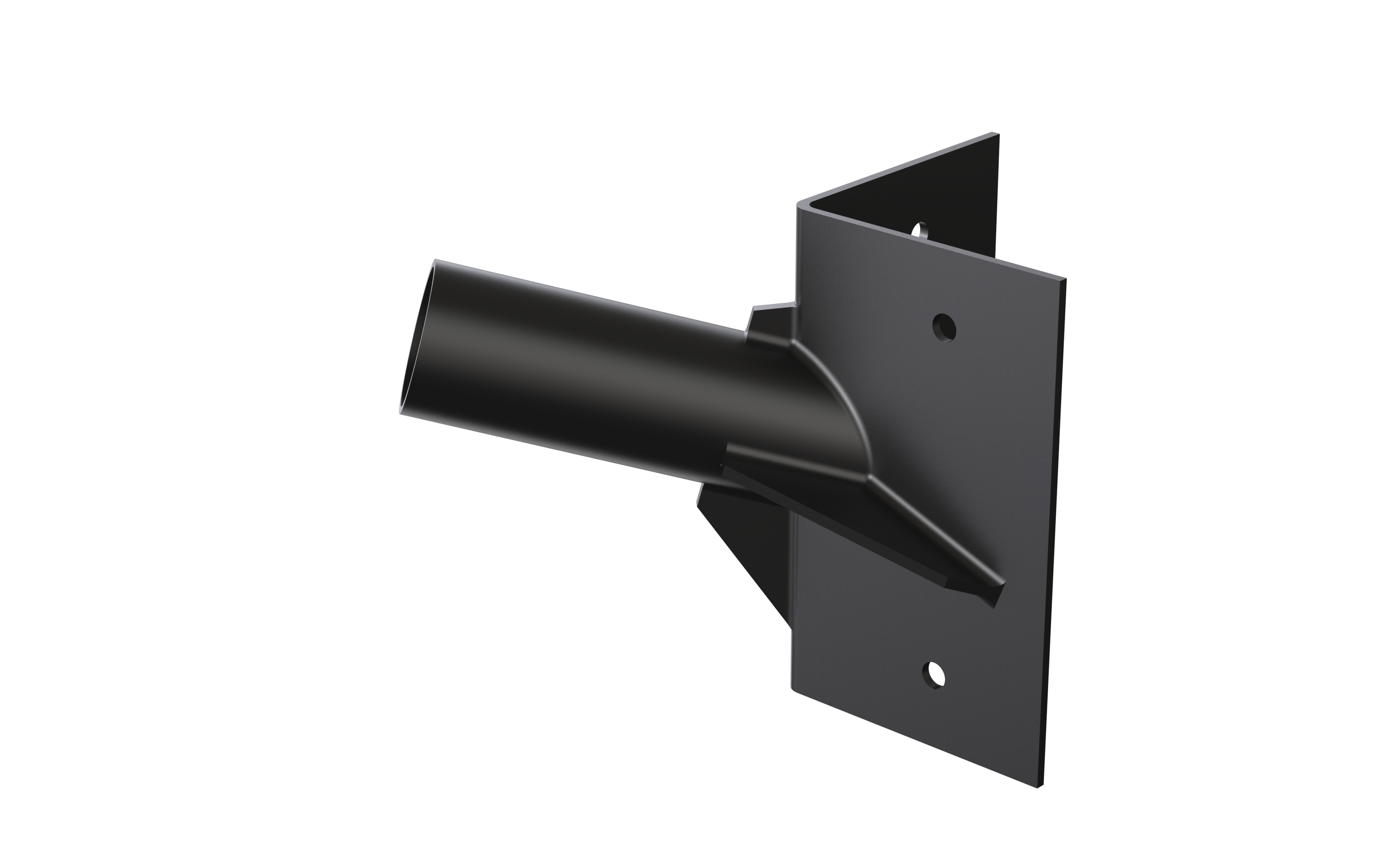 Corner Mount Spigot for 60mm dia. Street Light - Black