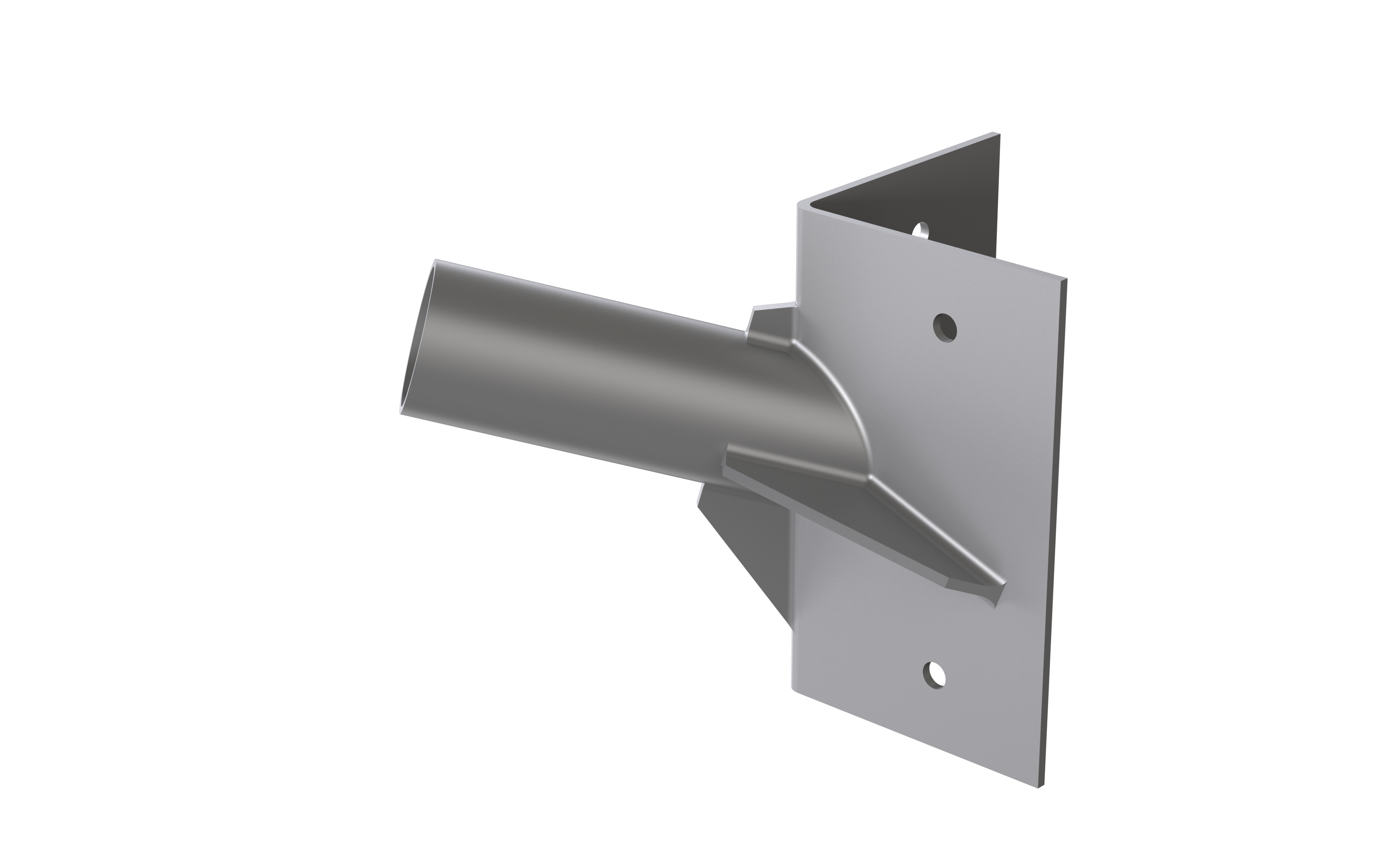 Corner Mount Spigot for 60mm dia. Street Light - Grey