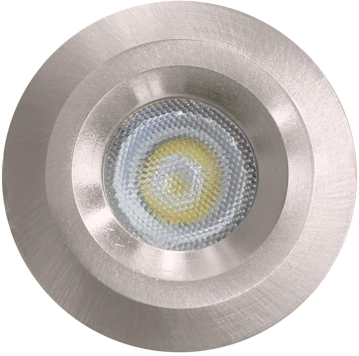LED STAR LIGHT - 3W - 5000K - BRUSHED CHROME