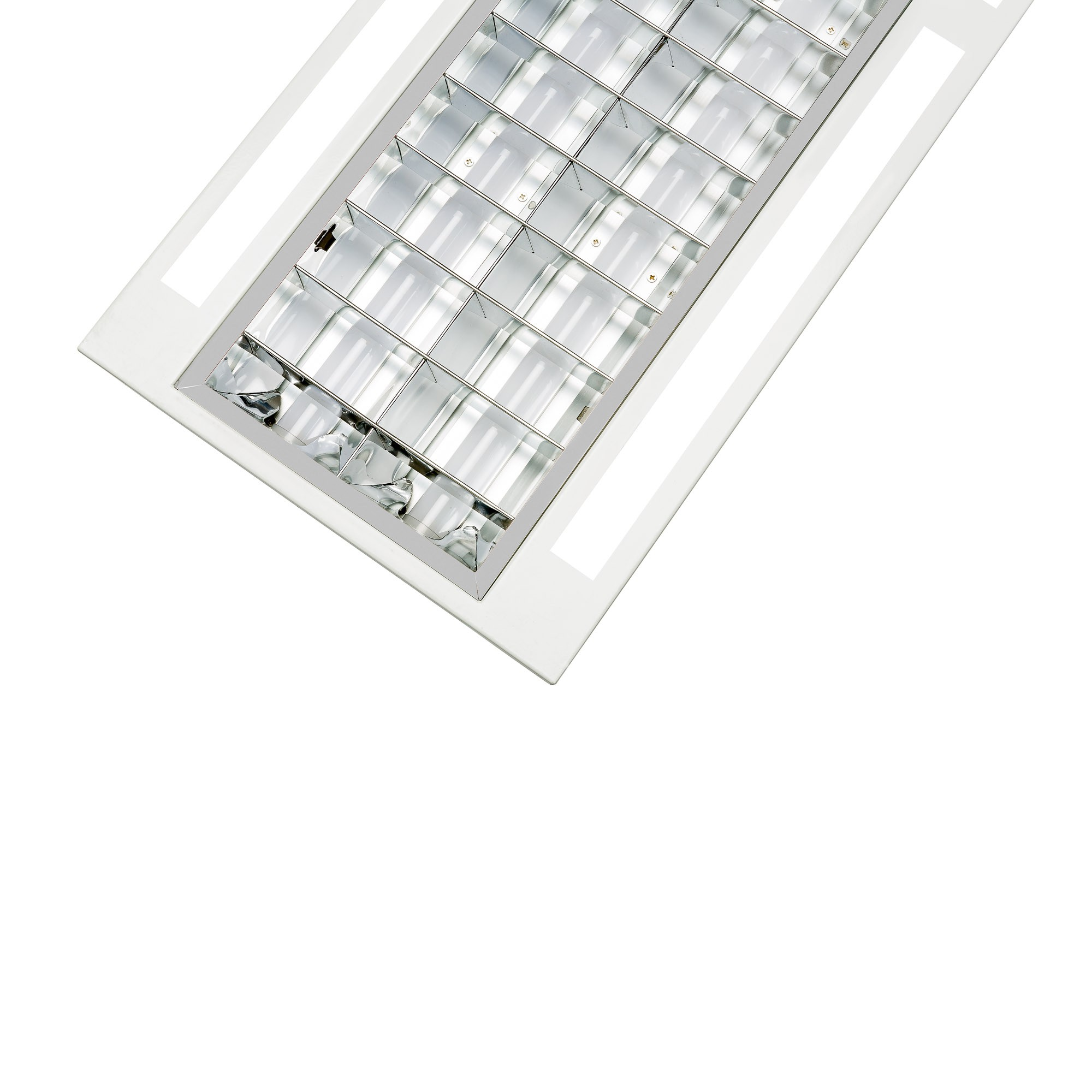 LED VENTED LOUVRED TROFFER - 36W - 1200mm X 300mm - 4000K